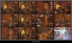 Tina Turner shows her dream legs in a TV interview --- 1980th Years --- Thailand