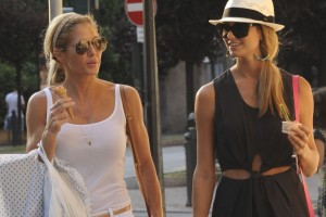 Stacy Keibler and Torrie Wilson - Shopping in Como 8/02/12