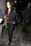 Michelle Rodriguez - see-thru top leaving Rose Club in London 08/13/12