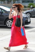 Alyson Hannigan - leaving Laser Away in Santa Monica 08/20/12